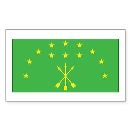 Adygea Flag Sticker (Rectangle)