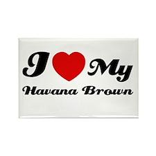 I love Havana Brown Rectangle Magnet