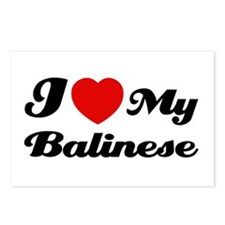 I love my Balinese Postcards (Package of 8)