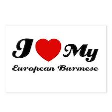 I love my European Burmese Postcards (Package of 8