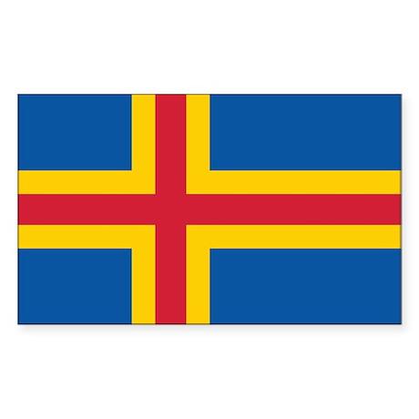 Åland Flag Sticker (Rectangle)