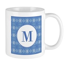 Blue Glacier Monogram Mug