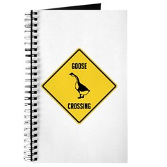 Goose Crossing Sign Journal