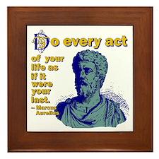 Do Every Act Framed Tile