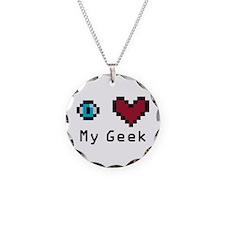 Eye Heart My Geek Necklace