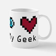 Eye Heart My Geek Mug