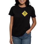 Blue Jay Crossing Sign Women's Dark T-Shirt