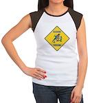 Blue Jay Crossing Sign Women's Cap Sleeve T-Shirt