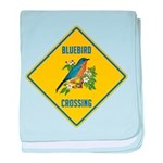 Blue Jay Crossing Sign baby blanket