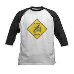 Blue Jay Crossing Sign Kids Baseball Jersey