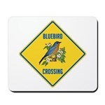 Blue Jay Crossing Sign Mousepad