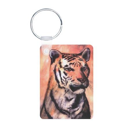 Tiger Print Aluminum Photo Keychain