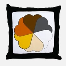 Bear Pride Hearts Throw Pillow