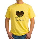 I LOVE MY MARINE Yellow T-Shirt