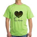 I LOVE MY MARINE Green T-Shirt
