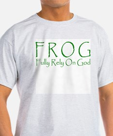 FROG Fully Rely On God Ash Grey T-Shirt