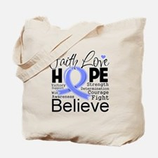Faith Hope Esophageal Cancer Tote Bag
