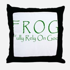 Fully Rely On God Throw Pillow