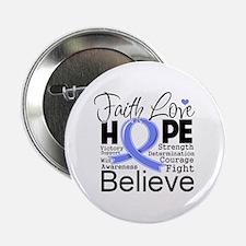 """Faith Hope Esophageal Cancer 2.25"""" Button"""