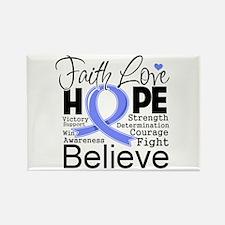 Faith Hope Esophageal Cancer Rectangle Magnet