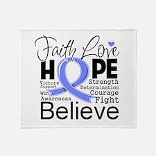 Faith Hope Esophageal Cancer Throw Blanket