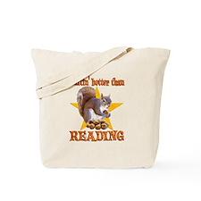Reading Squirrel Tote Bag