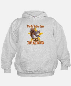 Reading Squirrel Hoodie