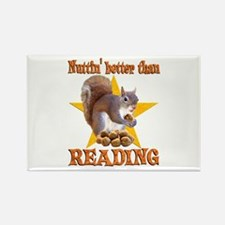 Reading Squirrel Rectangle Magnet