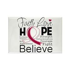 Faith Hope Head Neck Cancer Rectangle Magnet