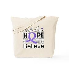 Faith Hope Hodgkins Disease Tote Bag
