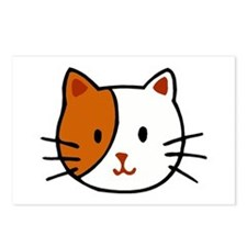 Calico Cat Cartoon Postcards (Package of 8)
