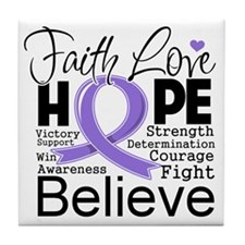 Faith Hope Hodgkins Disease Tile Coaster