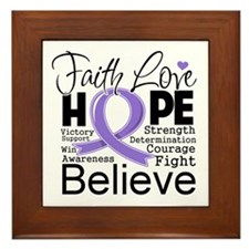Faith Hope Hodgkins Disease Framed Tile