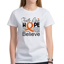Faith Hope Kidney Cancer Tee