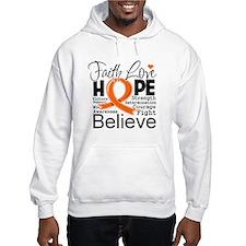 Faith Hope Kidney Cancer Hoodie