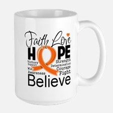 Faith Hope Kidney Cancer Mug