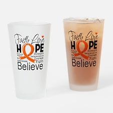 Faith Hope Kidney Cancer Drinking Glass