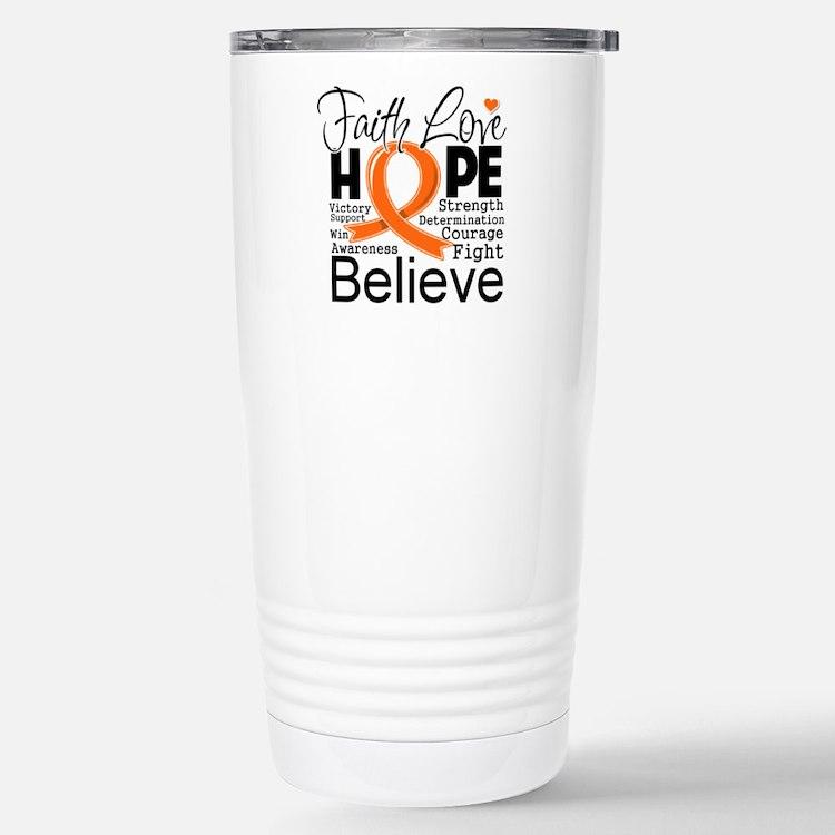 Faith Hope Kidney Cancer Travel Mug