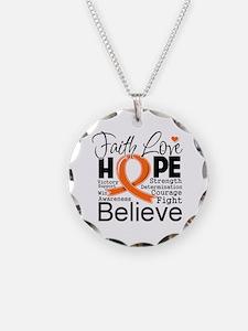 Faith Hope Kidney Cancer Necklace