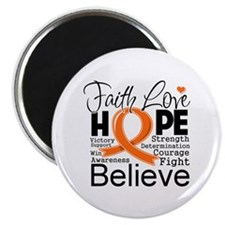 Faith Hope Kidney Cancer Magnet