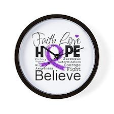Faith Hope Leiomyosarcoma Wall Clock
