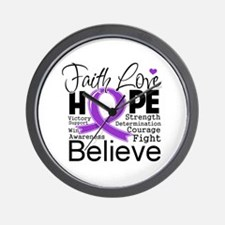 Faith Hope Leiomyosarcoma Wall Clock