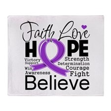 Faith Hope Leiomyosarcoma Throw Blanket