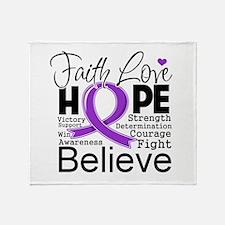 Faith Hope Leiomyosarcoma Throw Blanket