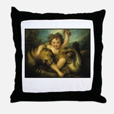 Taming Lions Throw Pillow
