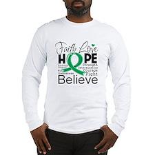 Faith Hope Liver Cancer Long Sleeve T-Shirt