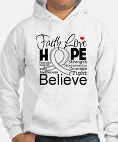 Faith Hope Lung Cancer Jumper Hoody