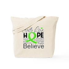 Faith Hope Lymphoma Tote Bag