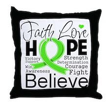 Faith Hope Lymphoma Throw Pillow