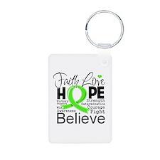 Faith Hope Lymphoma Keychains